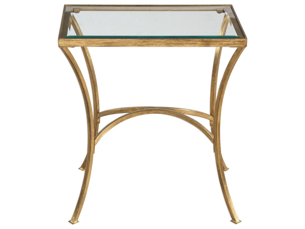 Uttermost Accent Furniture - Occasional TablesAlayna Gold End Table