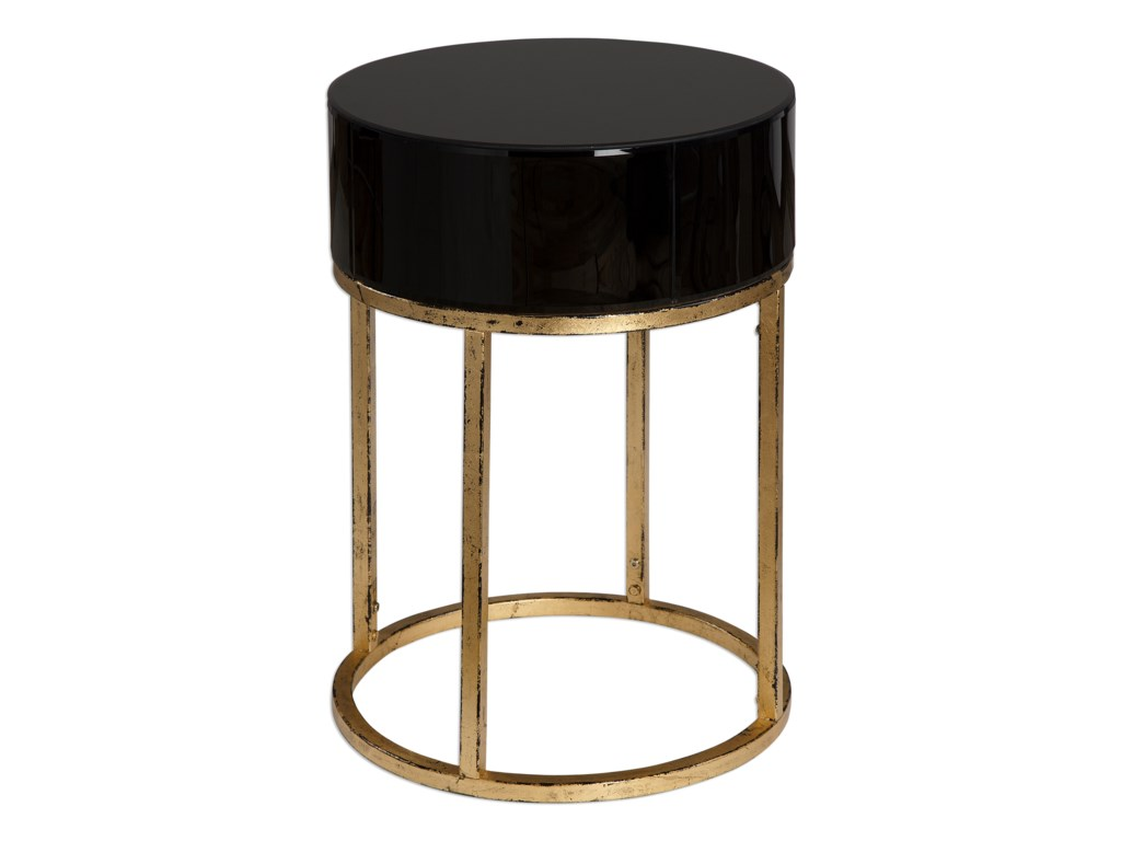 Uttermost Accent FurnitureMyles Curved Black Accent Table