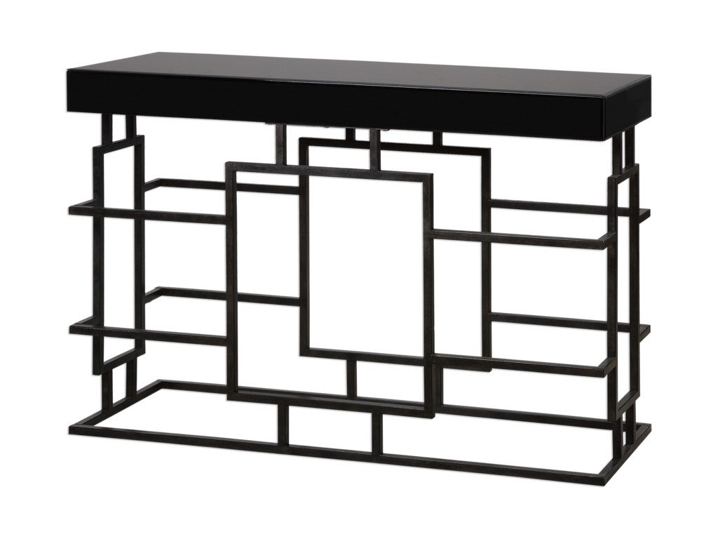 Uttermost Accent Furniture - Occasional TablesAndy Black Console Table