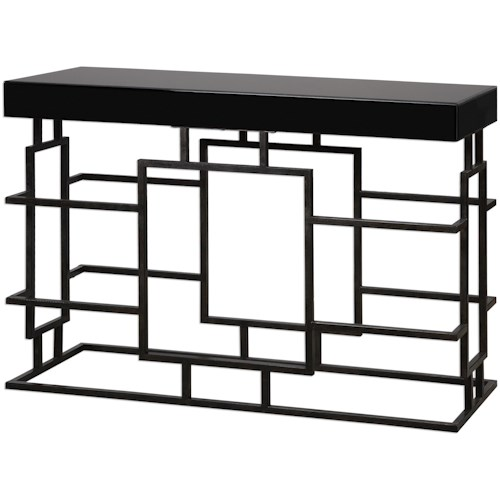 Uttermost Accent Furniture Andy Black Console Table