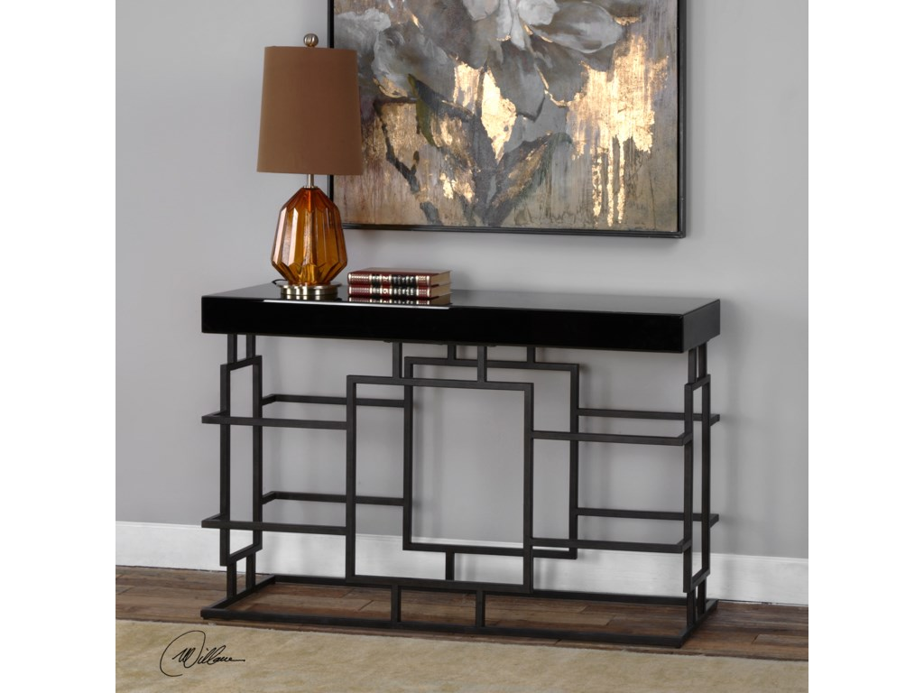 Uttermost Accent FurnitureAndy Black Console Table