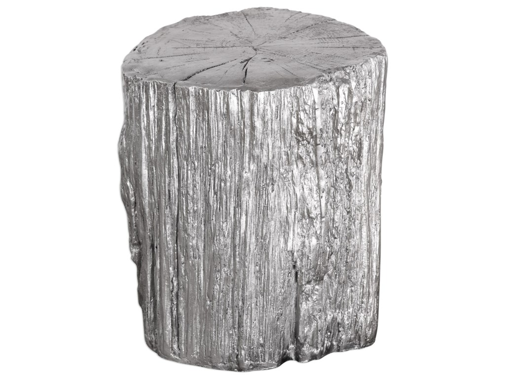 Uttermost Accent Furniture - Benches Cambium Silver Tree Stump Stool