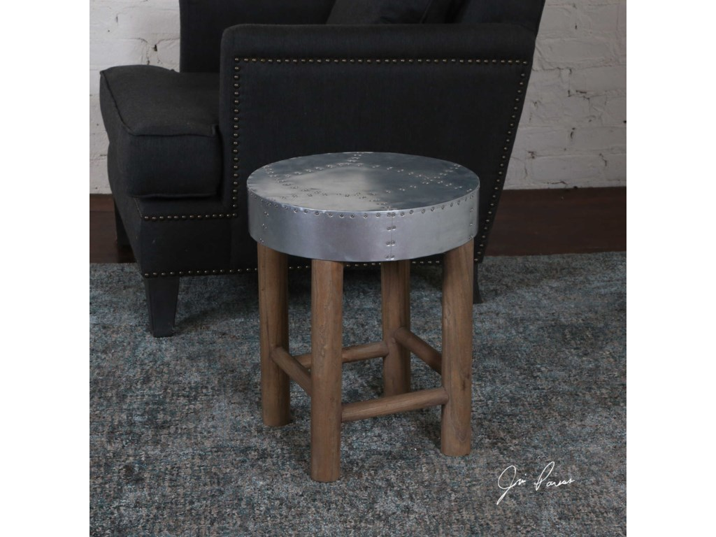Uttermost Accent FurnitureJace Industrial Aluminum Stool