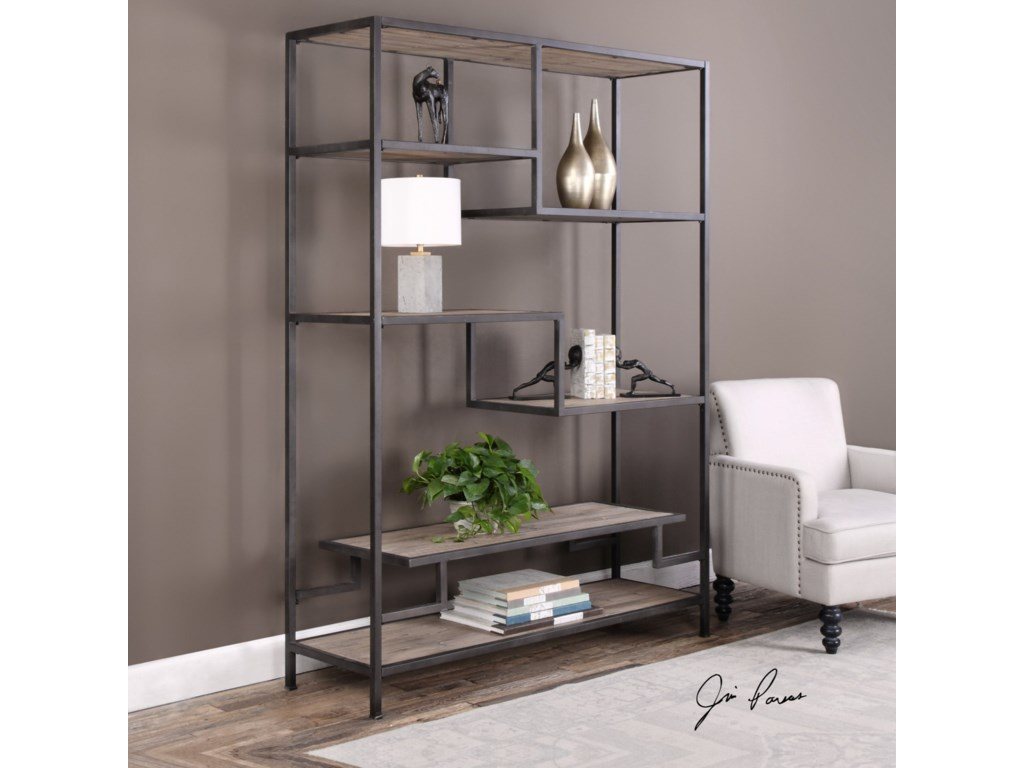Uttermost Accent Furniture Sherwin Industrial Etagere