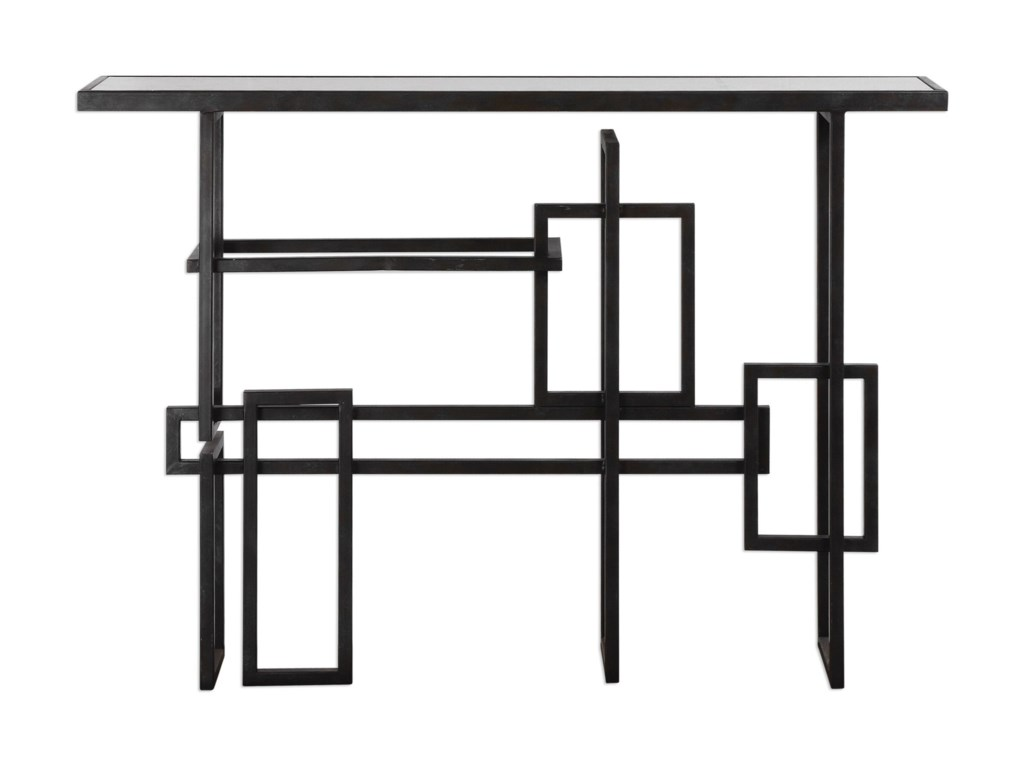 Uttermost Accent Furniture - Occasional Tables Dane Industrial Console Table
