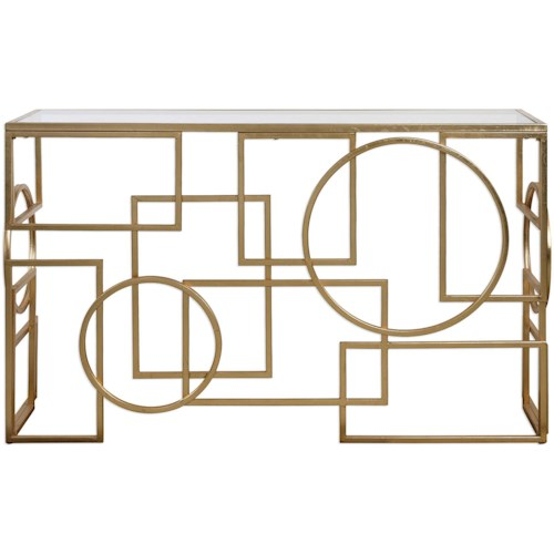 Uttermost Accent Furniture Metria Gold Console Table