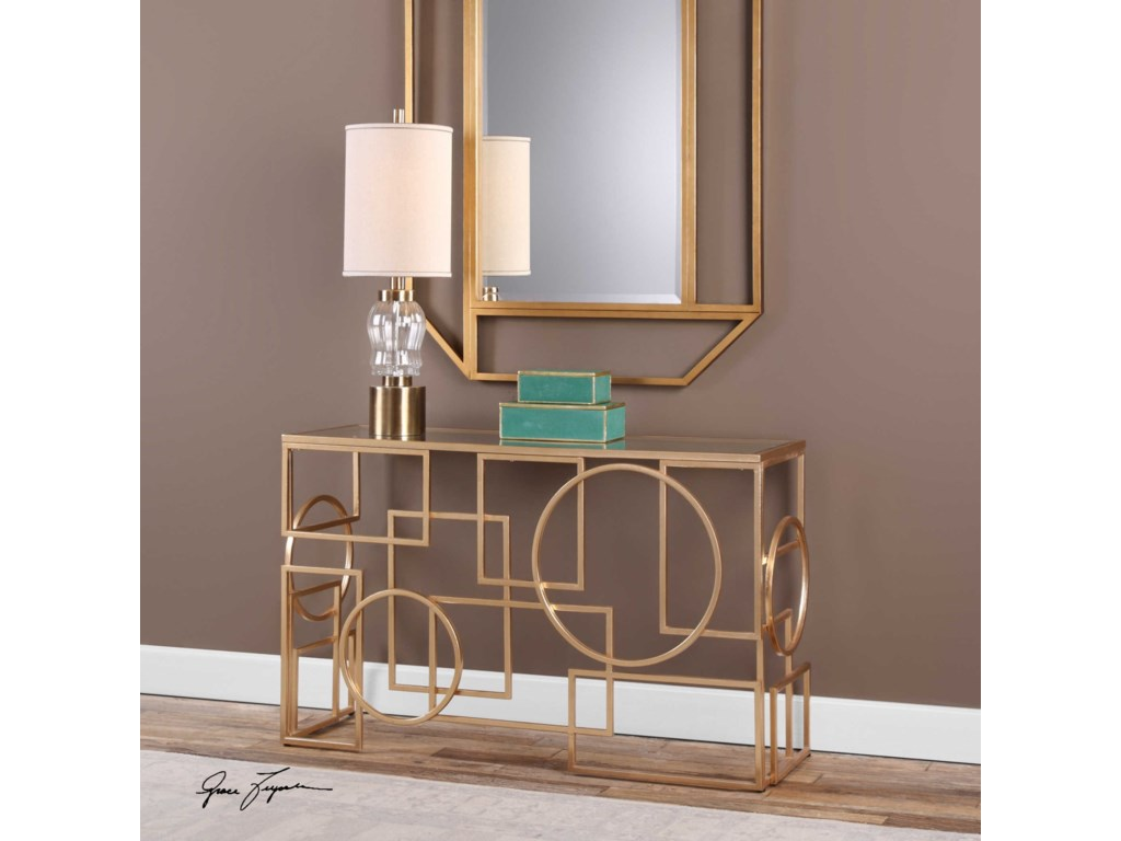 Uttermost Accent Furniture - Occasional TablesMetria Gold Console Table