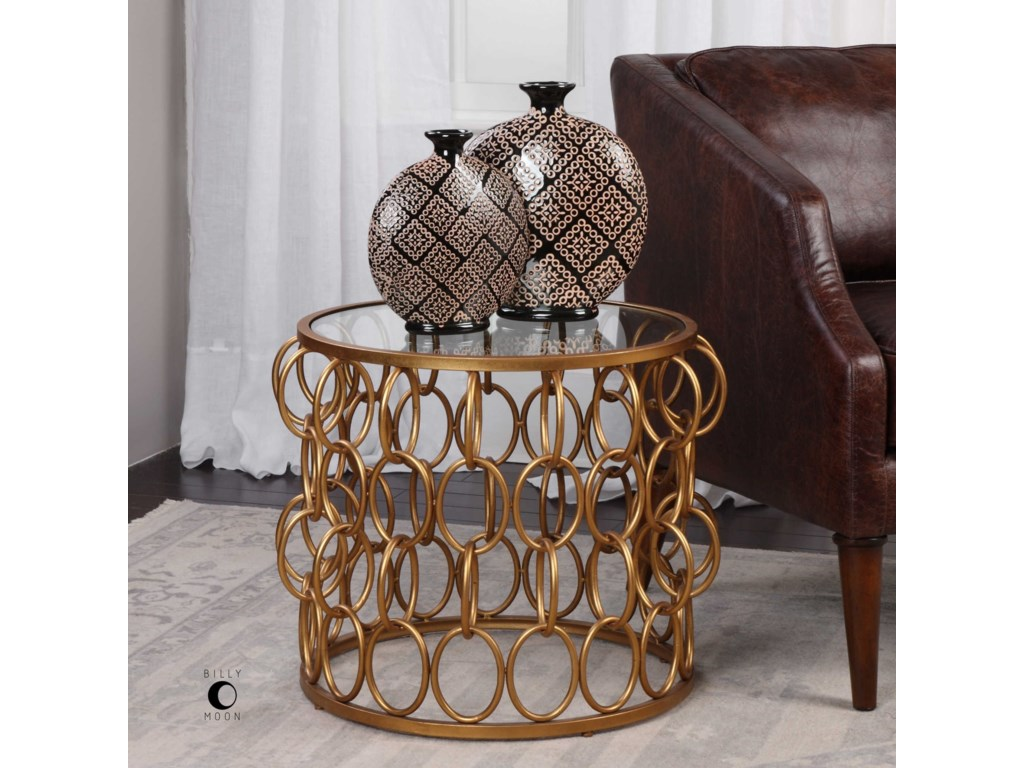 Uttermost Accent FurnitureDipali Gold Accent Table
