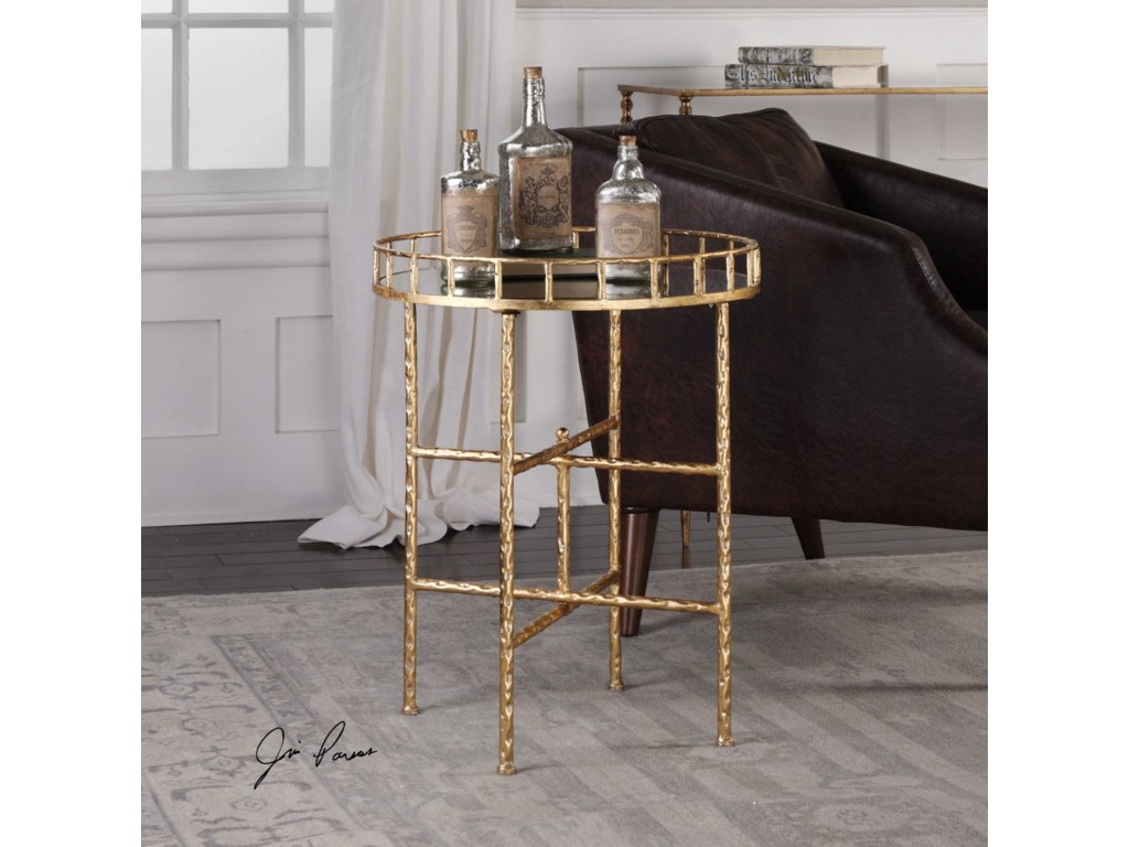 Uttermost Accent Furniture - Occasional TablesTilly Bright Gold Accent Table