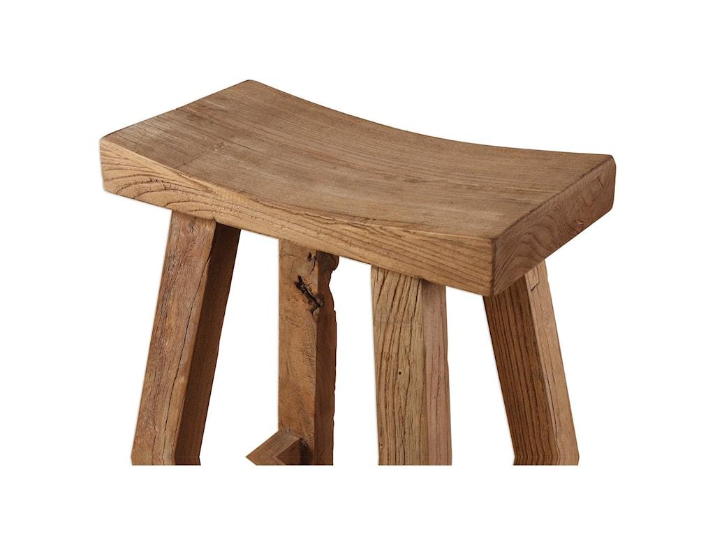 Uttermost Accent FurnitureHolt Elm Wood Bar Stool