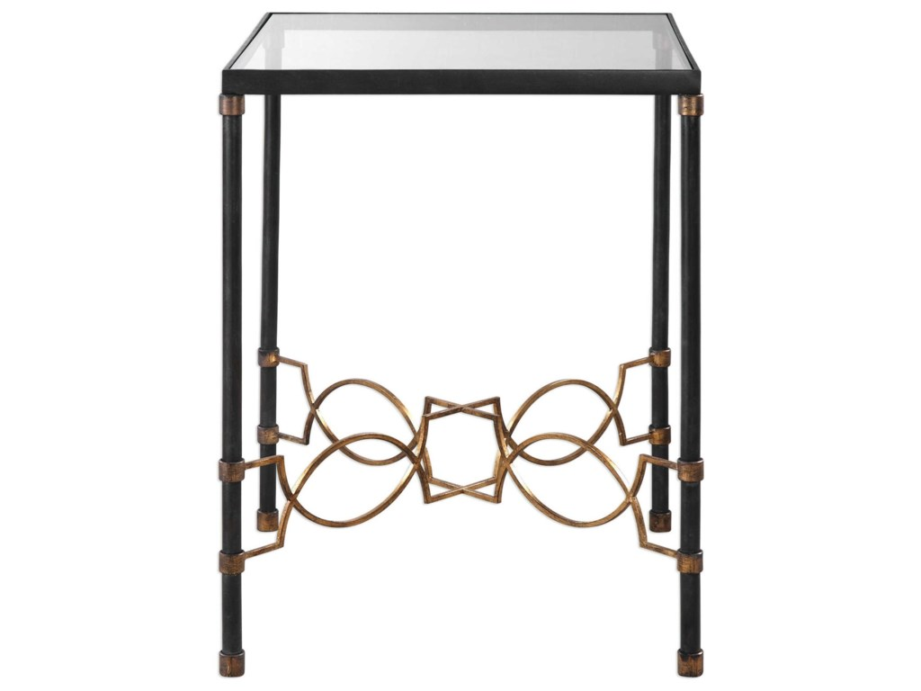 Uttermost Accent Furniture Josie Industrial Black Accent Table - Uttermost driftwood coffee table