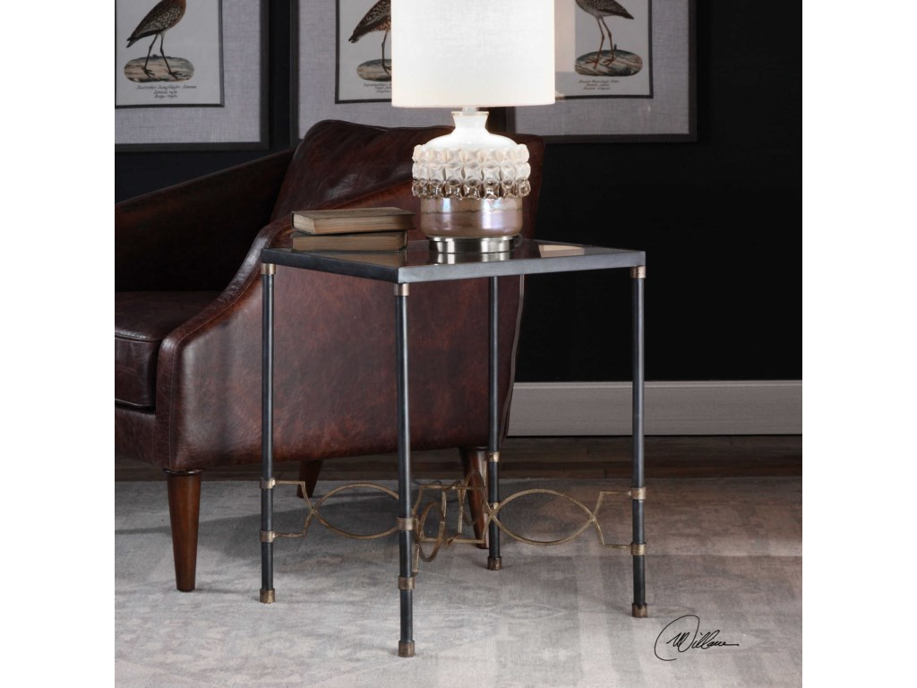 Uttermost Accent FurnitureJosie Industrial Black Accent Table