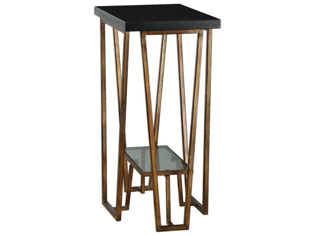 Uttermost Accent FurnitureAgnes Black Granite Accent Table
