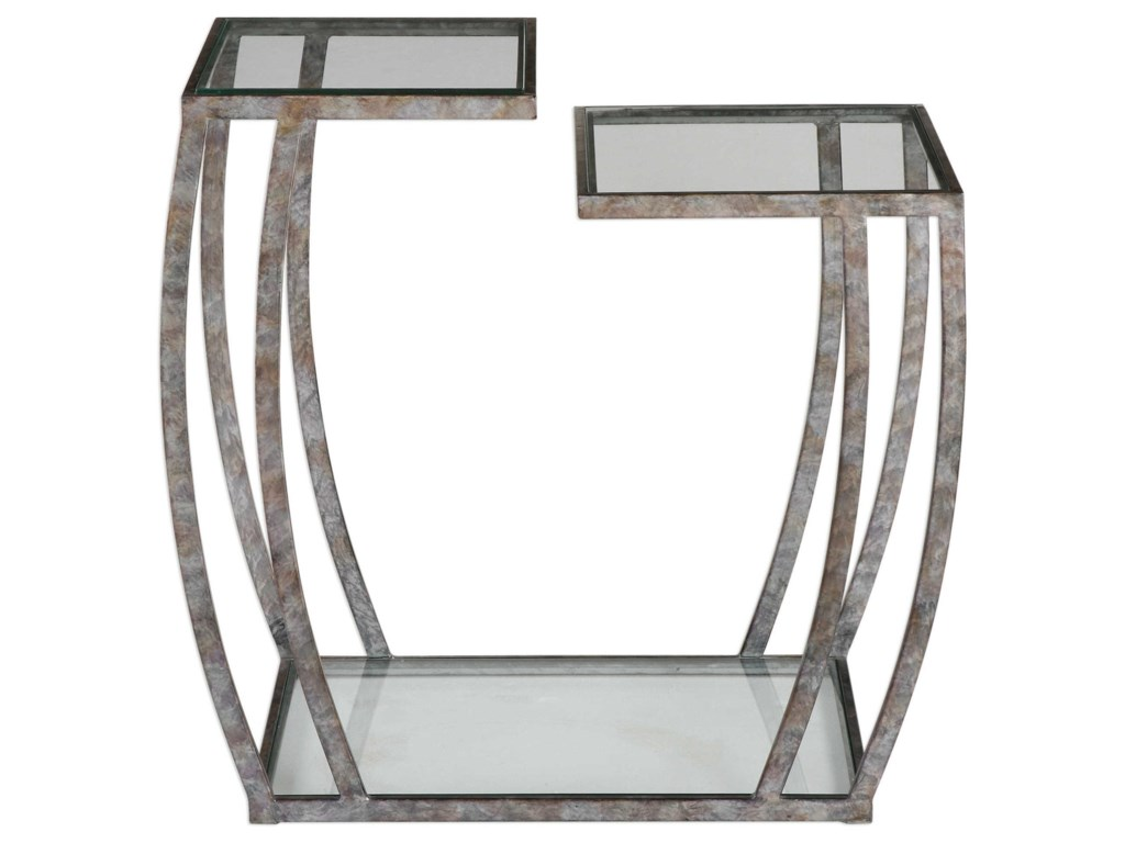 Uttermost Accent FurnitureTeeranie Burnished Silver Accent Table