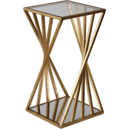 Janina Gold Dimensional Accent Table