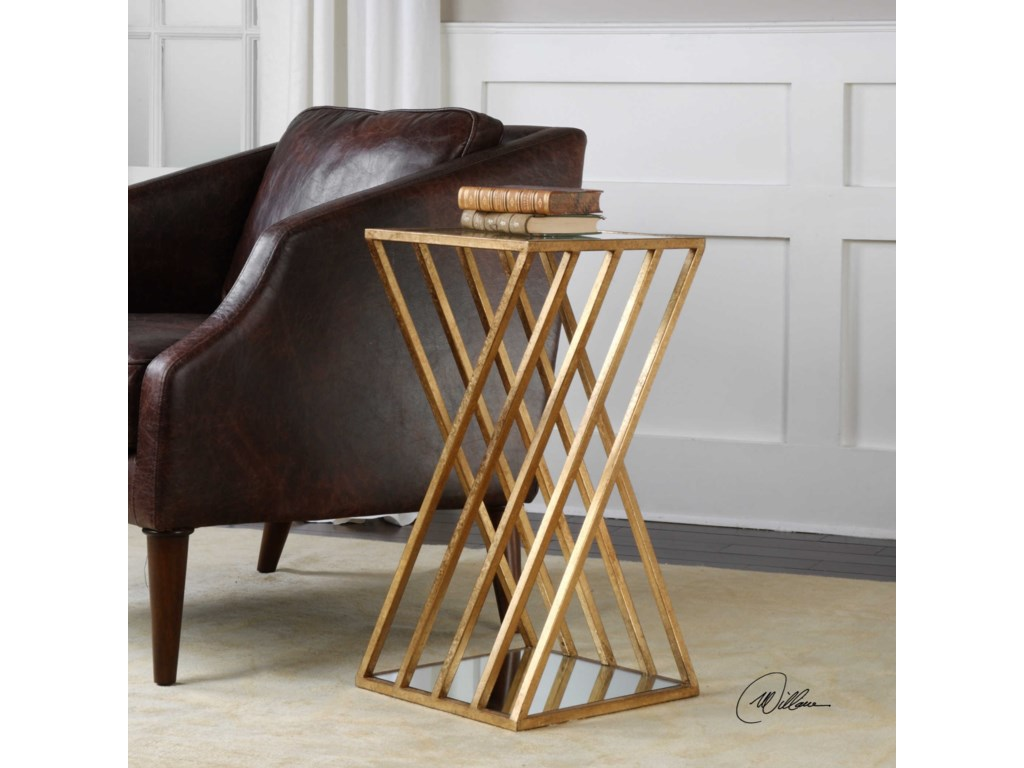 Uttermost Accent Furniture - Occasional TablesJanina Gold Dimensional Accent Table