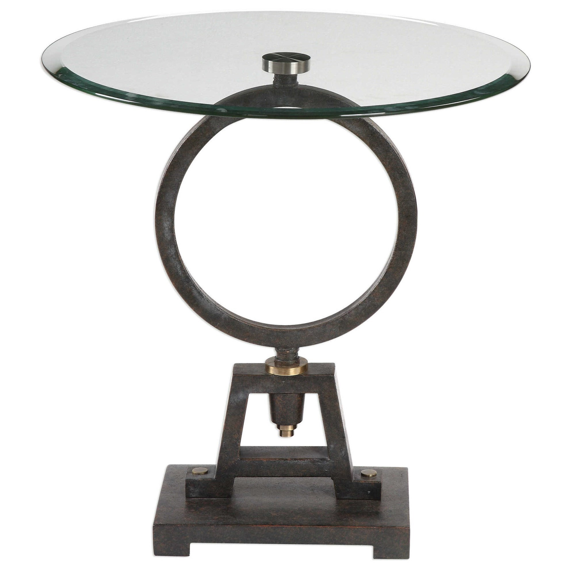 Medium image of uttermost accent furniture 24725 adan glass accent table   becker furniture world   end tables