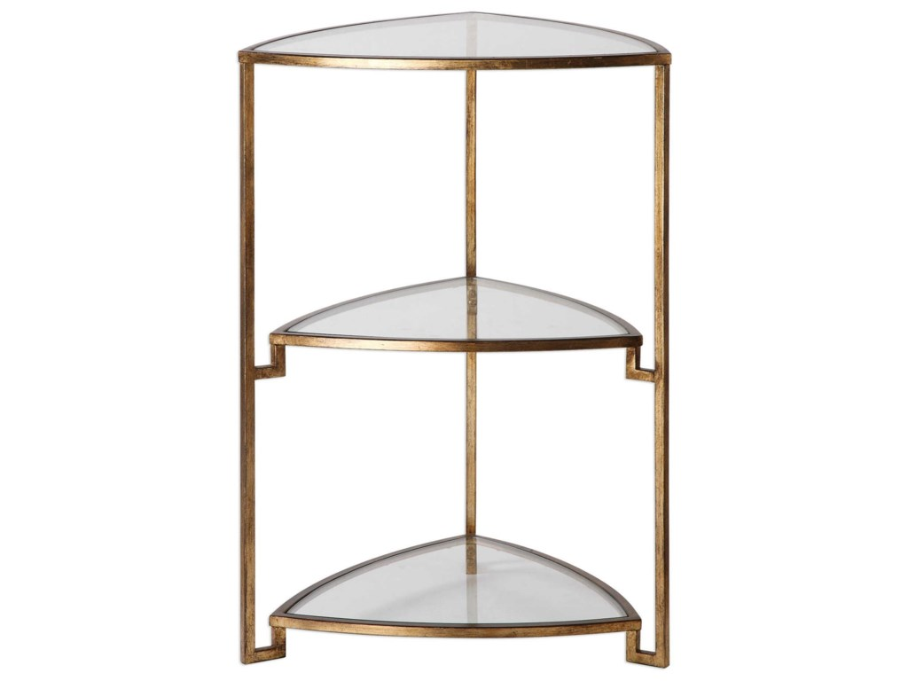 Uttermost Accent Furniture - Occasional TablesNastasia Gold Leaf Accent Table