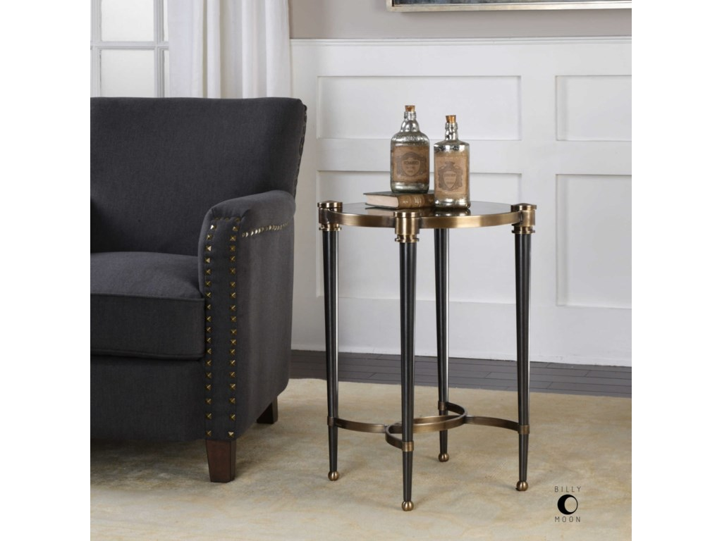 Uttermost Accent Furniture - Occasional TablesThora Brushed Black Accent Table