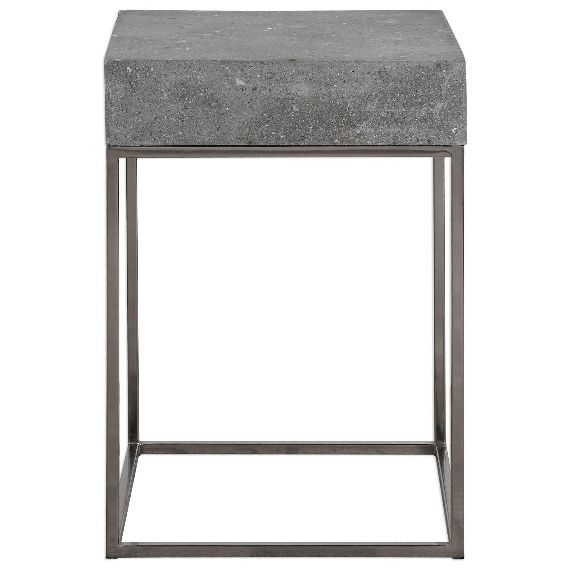 Uttermost Accent FurnitureJude Concrete Accent Table ...