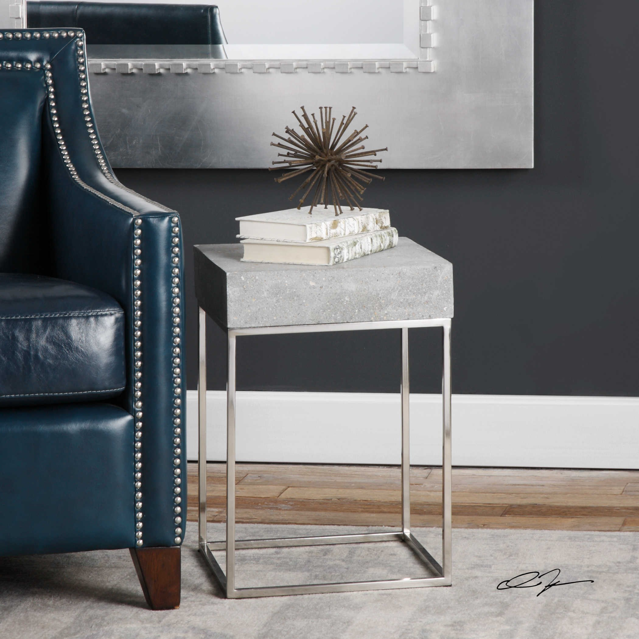 Medium image of uttermost accent furniture jude concrete accent table
