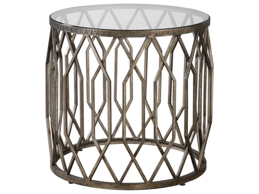 Uttermost Accent FurnitureAlgoma Glass Accent Table