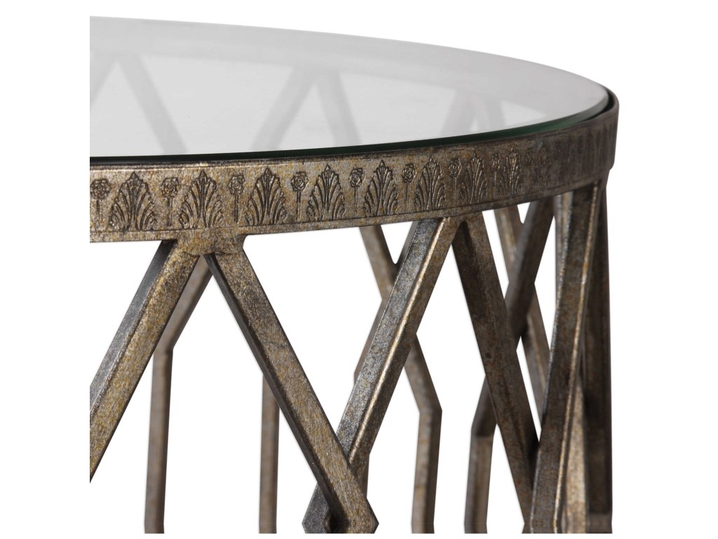 Uttermost Accent Furniture - Occasional TablesAlgoma Glass Accent Table