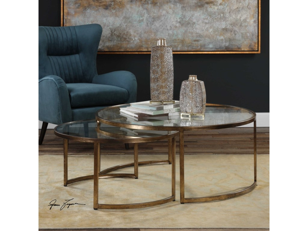 Uttermost Accent Furniture - Occasional TablesRhea Nested Coffee Tables Set of 2