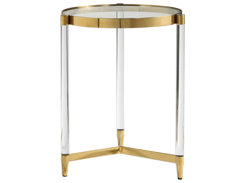 Uttermost Accent FurnitureKellen Glass Accent Table