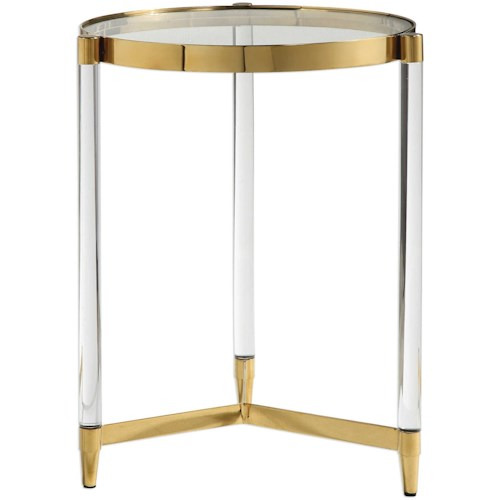 Uttermost Accent Furniture Kellen Glass Accent Table