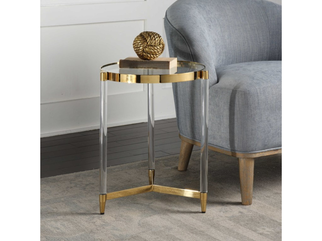 Uttermost Accent Furniture - Occasional TablesKellen Glass Accent Table