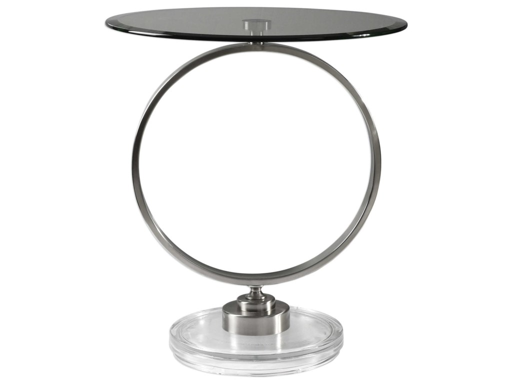 Uttermost Accent Furniture - Occasional TablesDixon Brushed Nickel Accent Table