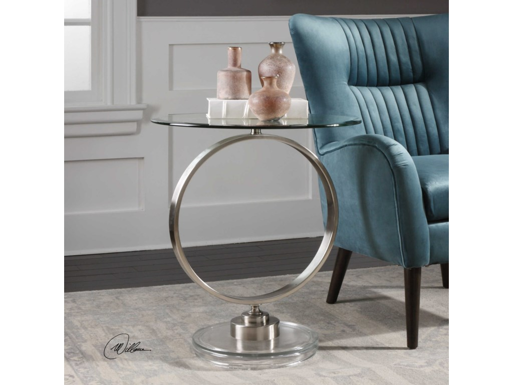 Uttermost Accent FurnitureDixon Brushed Nickel Accent Table