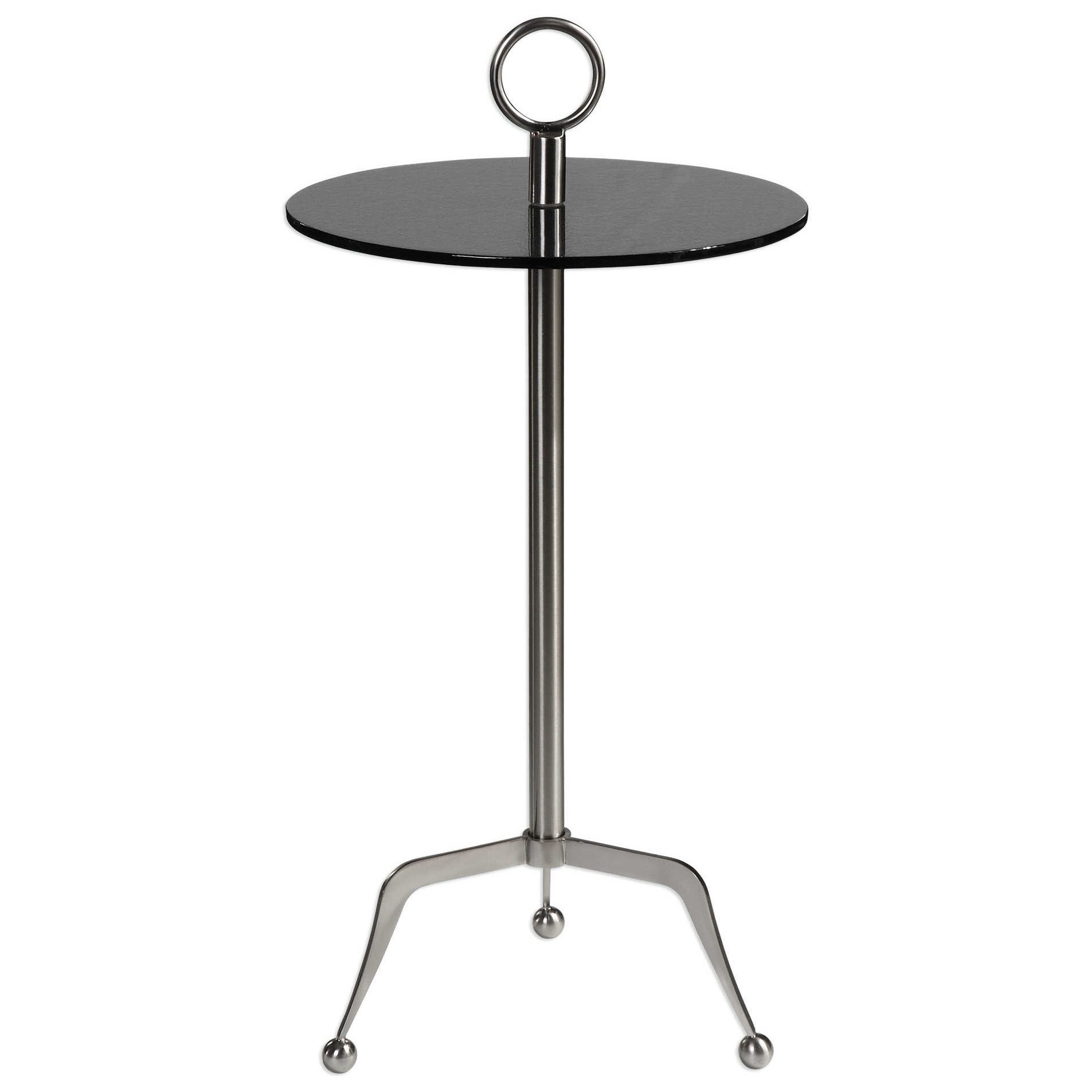 Medium image of uttermost accent furniture 24751 astro stainless steel accent table   becker furniture world   end tables