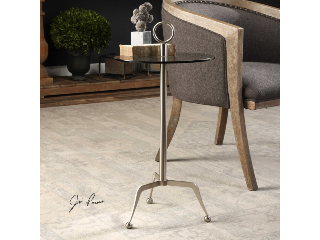 Uttermost Accent Furniture - Occasional TablesAstro Stainless Steel Accent Table
