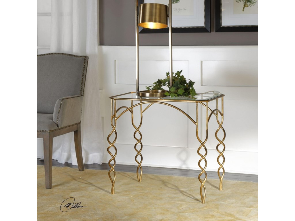 Uttermost Accent FurnitureLora Gold End Table