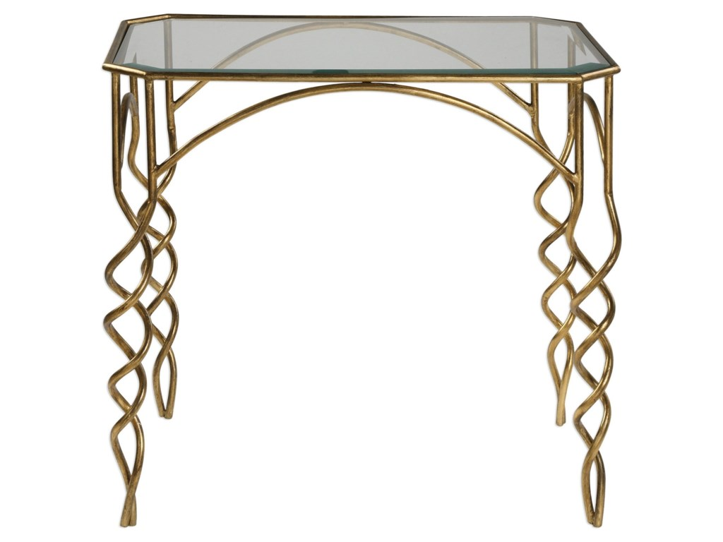 Uttermost Accent Furniture - Occasional TablesLora Gold End Table