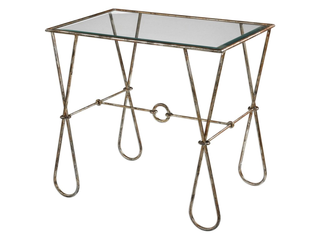 Uttermost Accent FurniturePrimrose Burnished Silver Accent Table