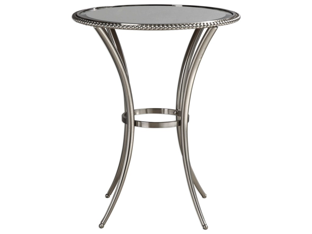 Uttermost Accent Furniture - Occasional TablesSherise Beaded Metal Accent Table