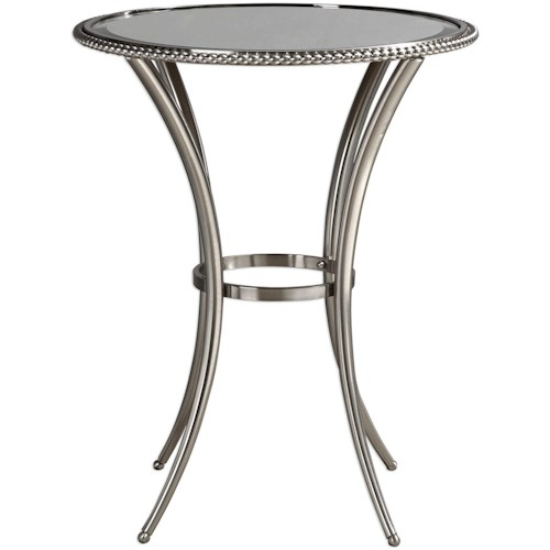 Uttermost Accent Furniture Sherise Beaded Metal Accent Table