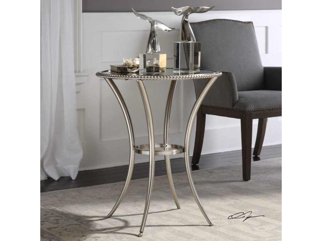 Uttermost Accent FurnitureSherise Beaded Metal Accent Table