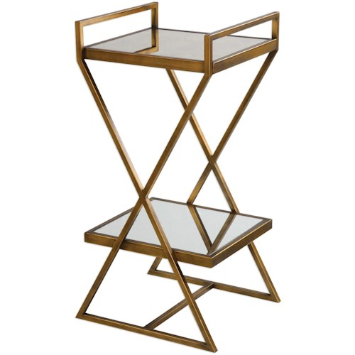 Uttermost Accent Furniture Elling Golden Bronze Accent Table