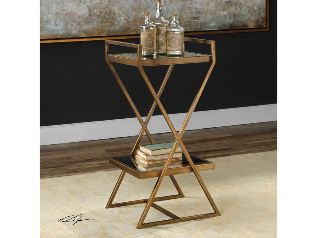 Uttermost Accent FurnitureElling Golden Bronze Accent Table
