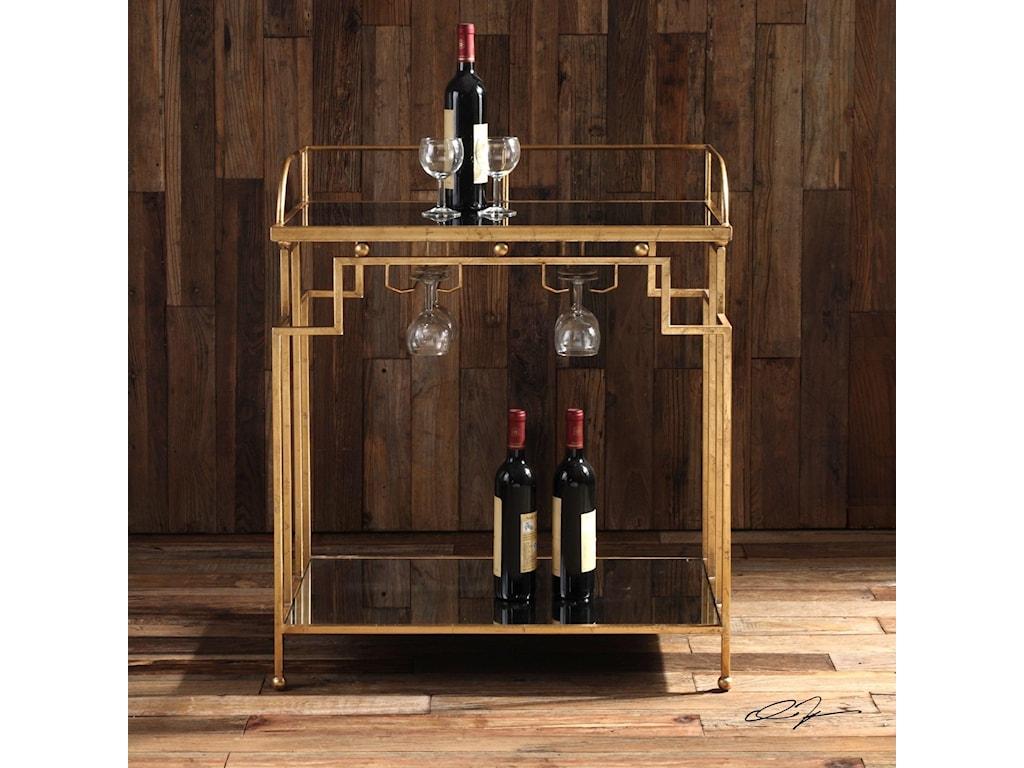 Uttermost Accent FurnitureBurgess Gold Bar Cart