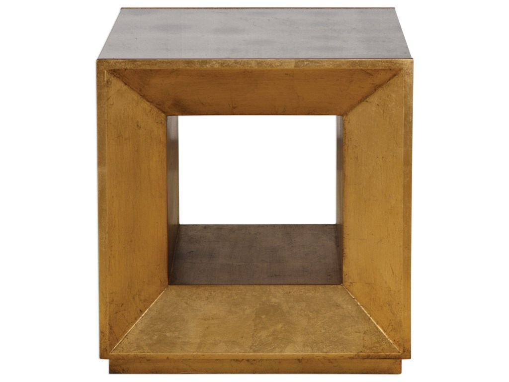 Uttermost Accent Furniture - Occasional TablesFlair Gold Cube Table