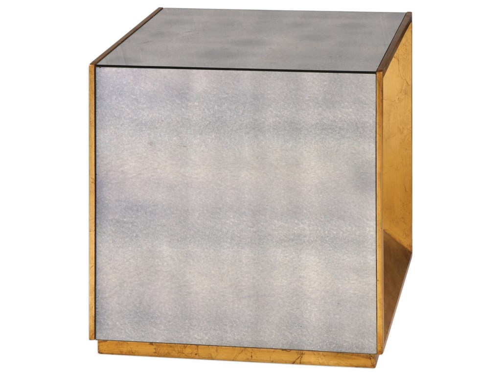 Uttermost Accent FurnitureFlair Gold Cube Table