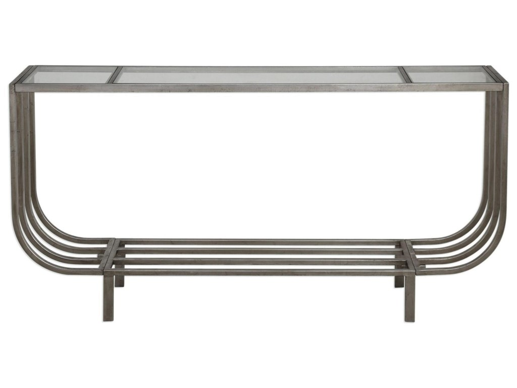 Uttermost Accent Furniture - Occasional TablesArlice Bright Silver Console Table