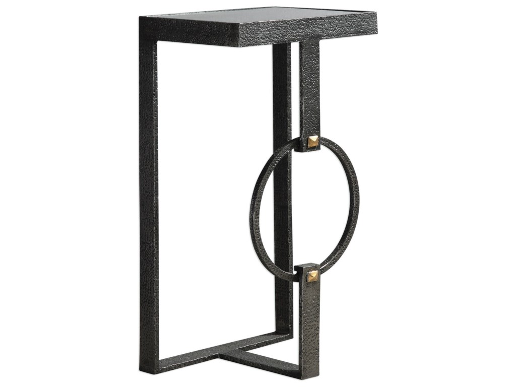 Uttermost Accent Furniture - Occasional TablesHagen Burnished Steel Accent Table
