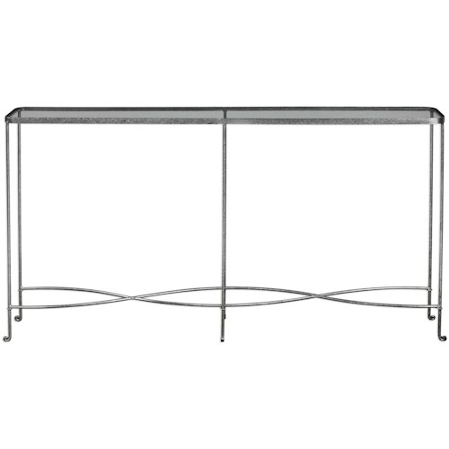 Uttermost Accent Furniture Aubrey Silver Console Table