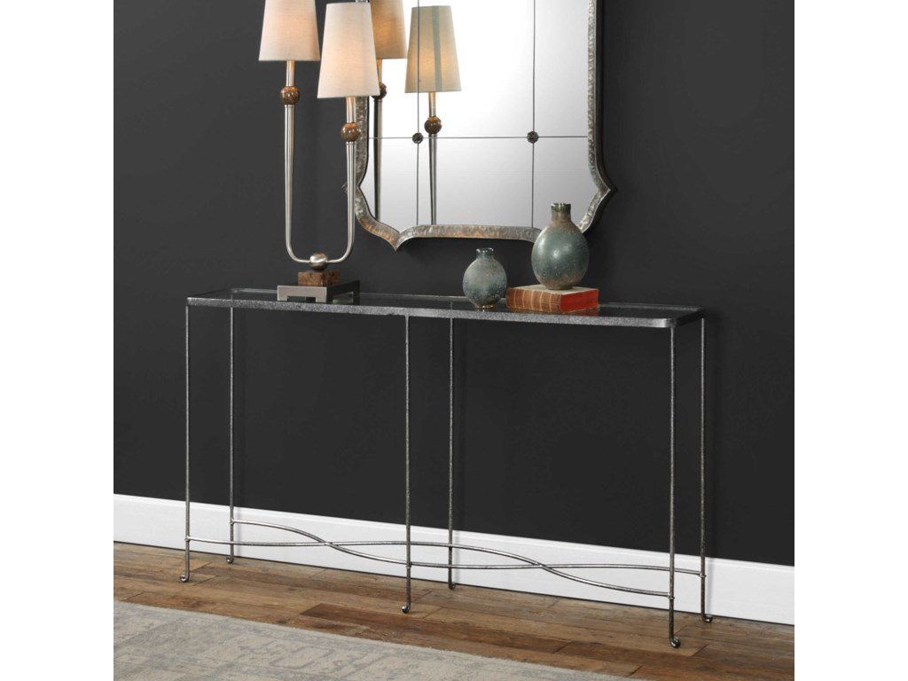Uttermost Accent FurnitureAubrey Silver Console Table